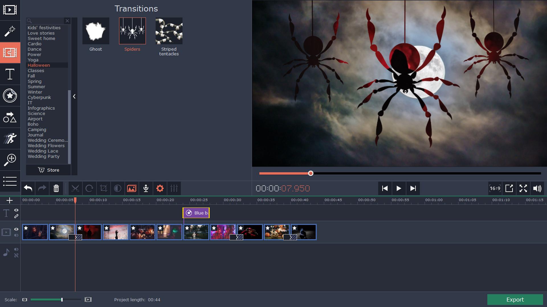 Movavi Video Editor 15 Plus - Halloween Pack
