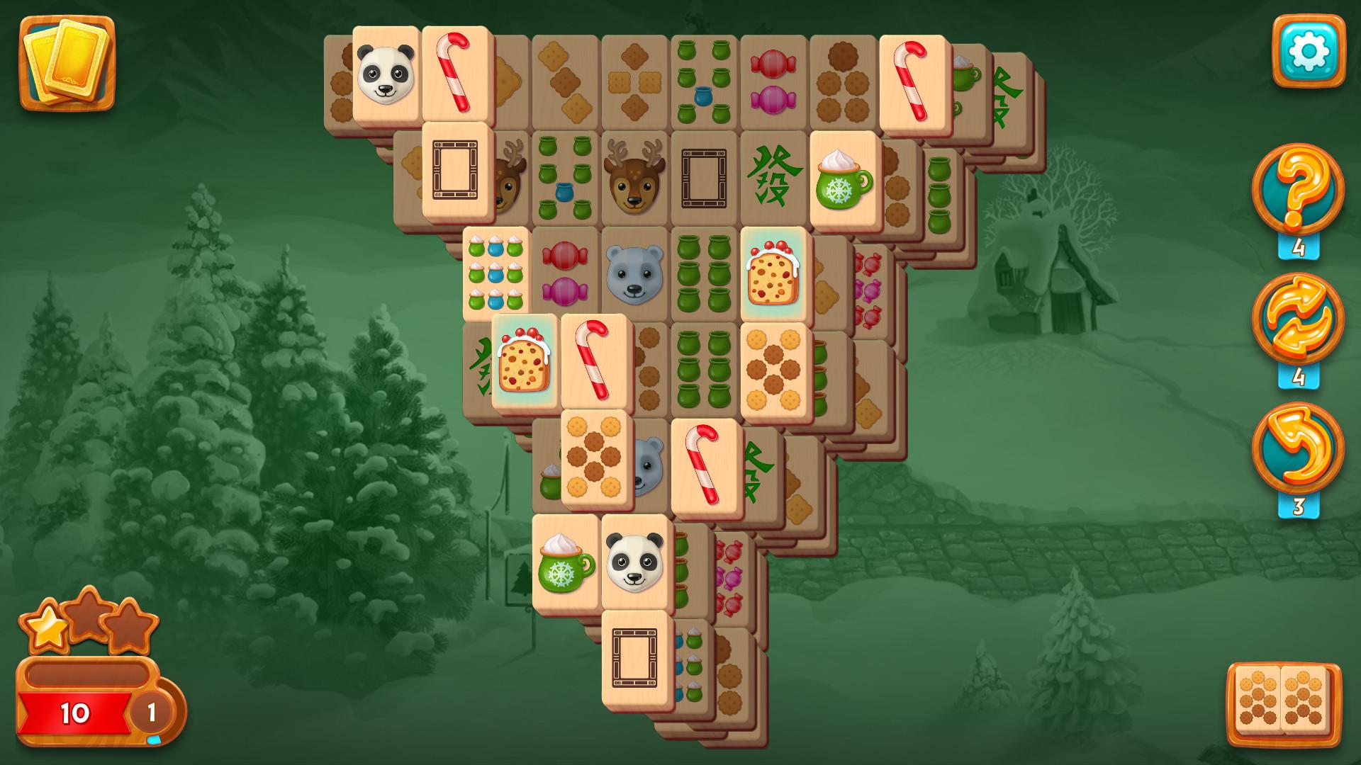 Mahjong Christmas.Mahjong Fest Winterland