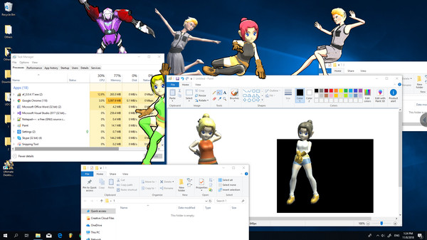 Скриншот из Ultimate Desktop Character Engine