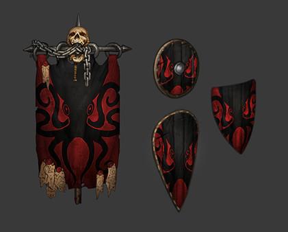 Скриншот №1 к Battle Brothers - Support the Developers  Kraken Banner