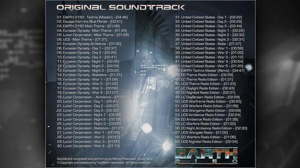 скриншот Earth 2150 Trilogy - Soundtrack 1