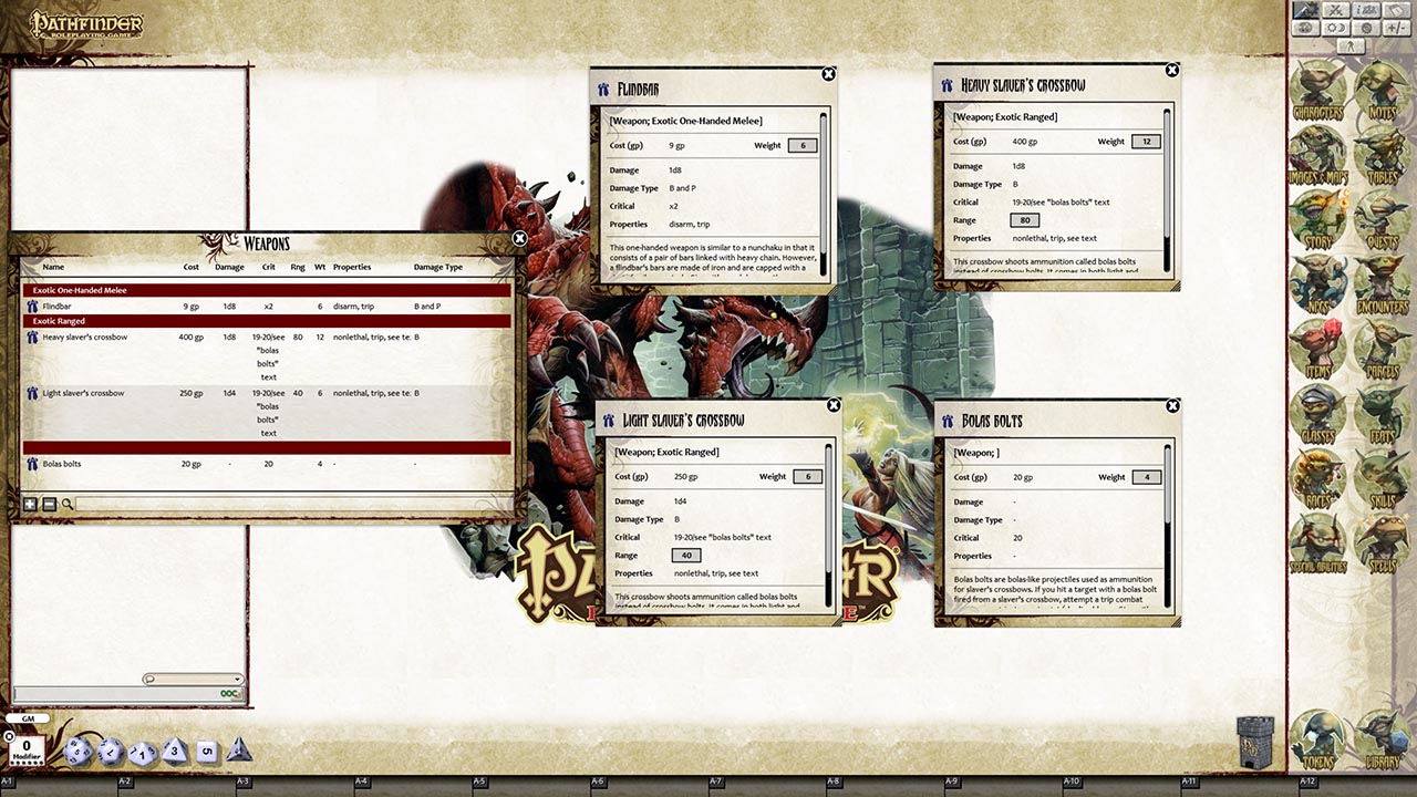Fantasy Grounds - Pathfinder RPG - Monster Codex (PFRPG)