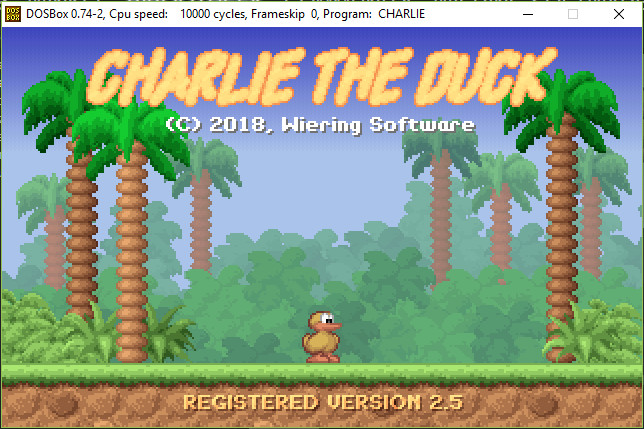 Charlie the Duck - Original version in DosBox on Steam