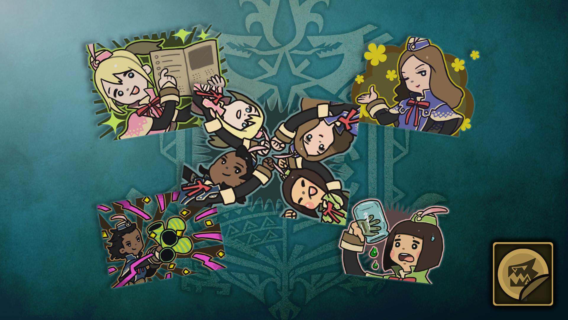 KHAiHOM.com - Monster Hunter: World - Sticker Set: Celestial Pursuit Girls