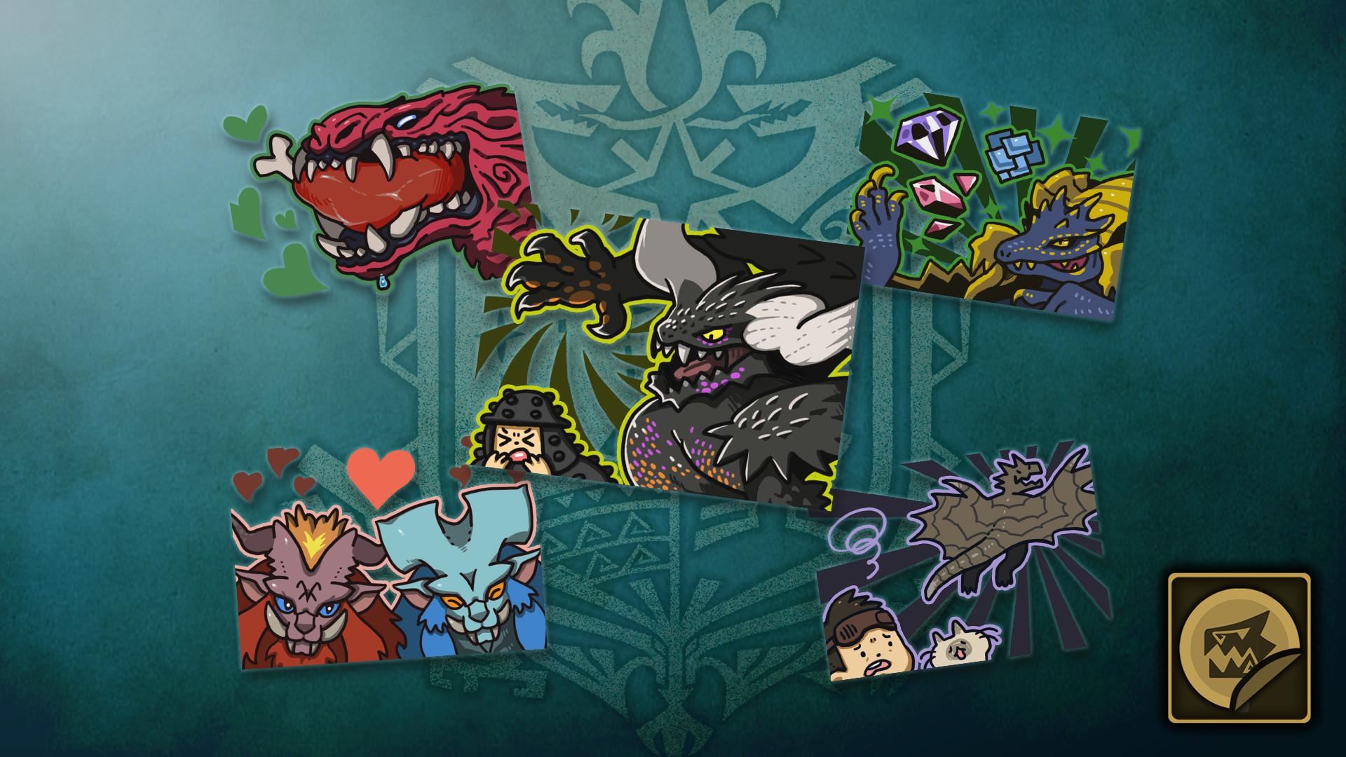 KHAiHOM.com - Monster Hunter: World - Sticker Set: Monsters of the New World