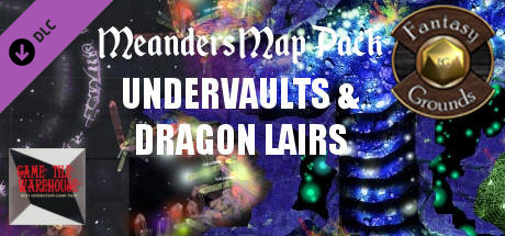 Fantasy Grounds - Meanders Map Pack: Undervaults & Dragon Lairs (Map Pack)