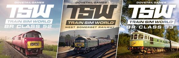 TSW West Somerset + BR Class 52 + BR Class 33 Bundle