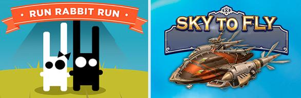 3 Arcade Games in 1 Bundle: Run Rabbit Run + Sky to Fly