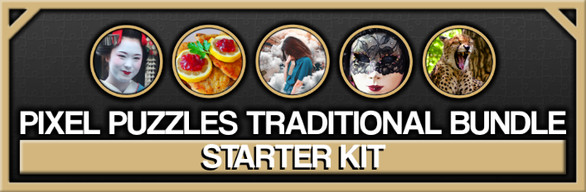 Pixel Puzzles Traditional Jigsaws: Starter Kit