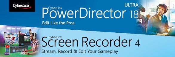CyberLink Video Solution Game Edition – PowerDirector 18 Ultra + Screen Recorder 4