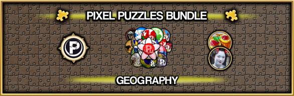 Pixel Puzzles Jigsaw Bundle: Geography