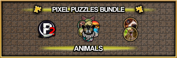 Pixel Puzzles Jigsaw Bundle: Animals