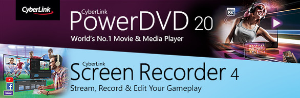 CyberLink PowerDVD 20 Ultra + Screen Recorder 4