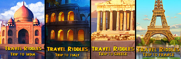 Travel Riddles 4-in-1 Bundle