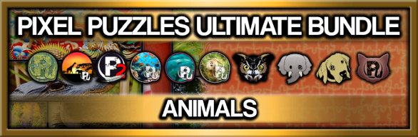 Pixel Puzzles Ultimate Jigsaw Bundle: Animals