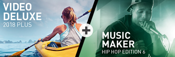 MAGIX Video deluxe 2018 Plus + Music Maker Hip Hop 6