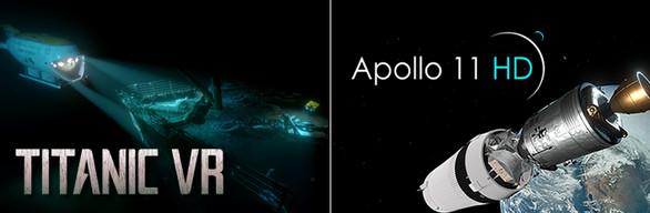 Titanic VR & Apollo 11 VR HD Bundle