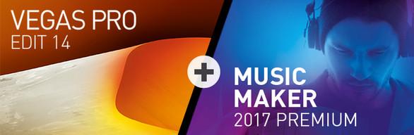 VEGAS Pro 14 Edit + Music Maker 2017 Premium