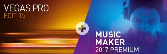 VEGAS Pro 15 Edit + MAGIX Music Maker 2017 Premium