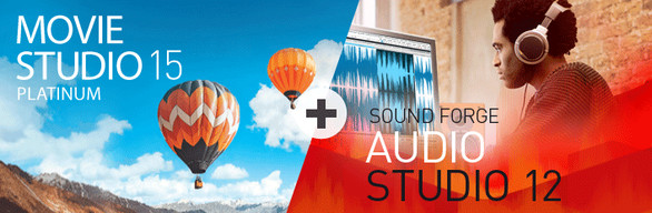 VEGAS Movie Studio 15 Platinum + SOUND FORGE Audio Studio 12