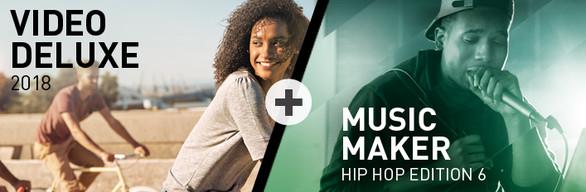MAGIX Video deluxe 2018 + Music Maker Hip Hop 6