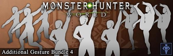 Monster Hunter: World - Additional Gesture Bundle 4