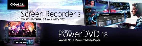 CyberLink ScreenRecorder 3 Deluxe & PowerDVD 18 Ultra