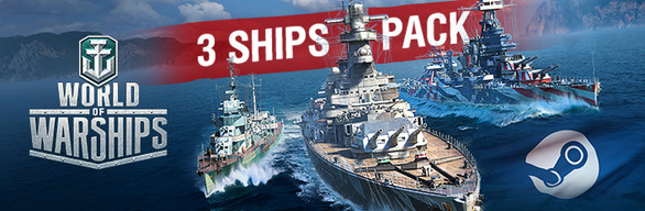 World of Warships - 3 Ships Pack