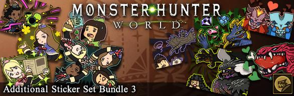 Monster Hunter: World - Additional Sticker Set Bundle 3
