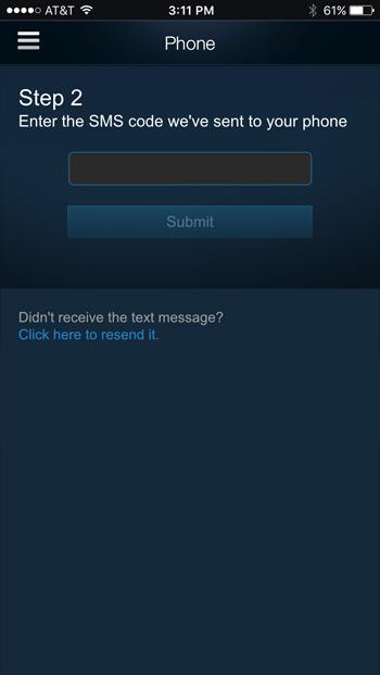 Steam SMS