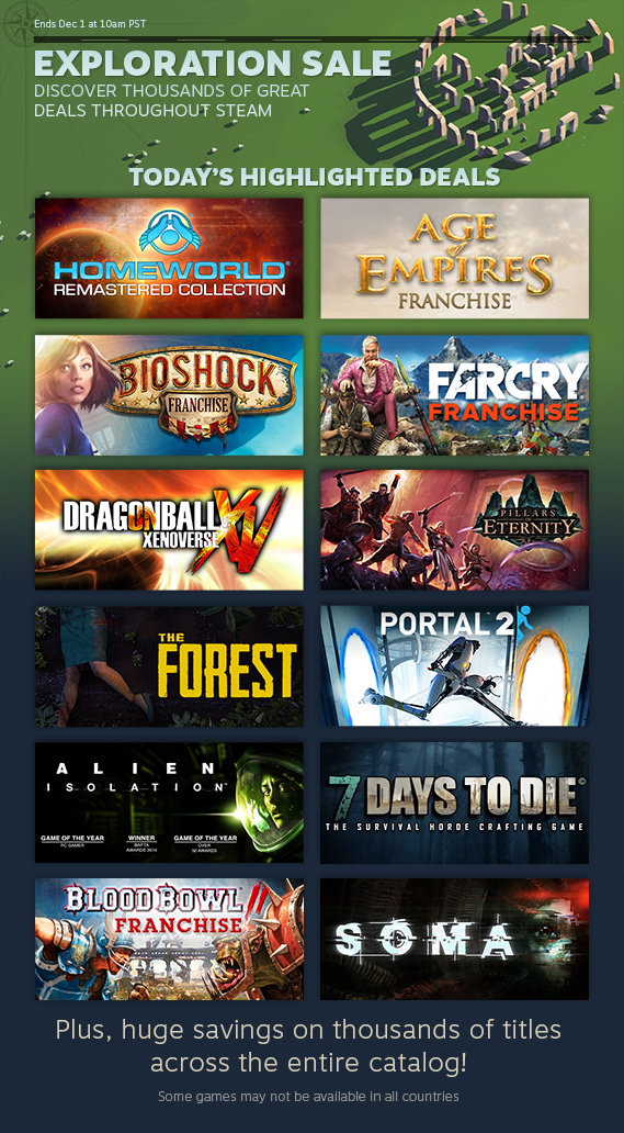 News Day 4 Of The Steam Exploration Sale