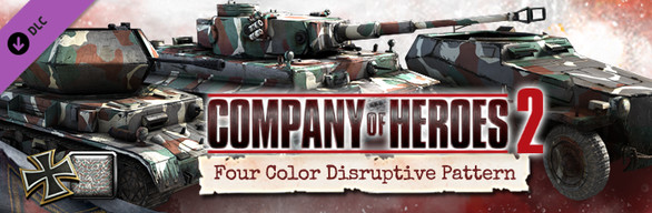 Company of Heroes 2 - German Skin: Four Color Disruptive Pattern Bundle