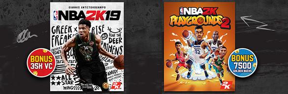 NBA 2K19 + NBA 2K Playgrounds 2 on Steam