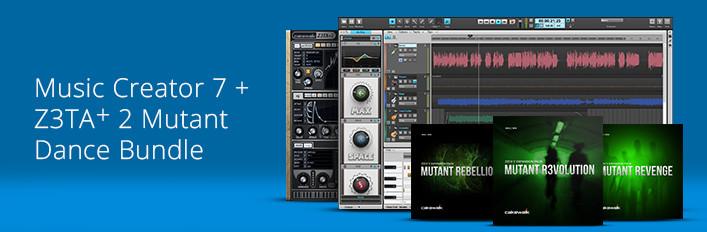 Music Creator 7 and Z3TA+ 2 and Mutant Dance Bundle