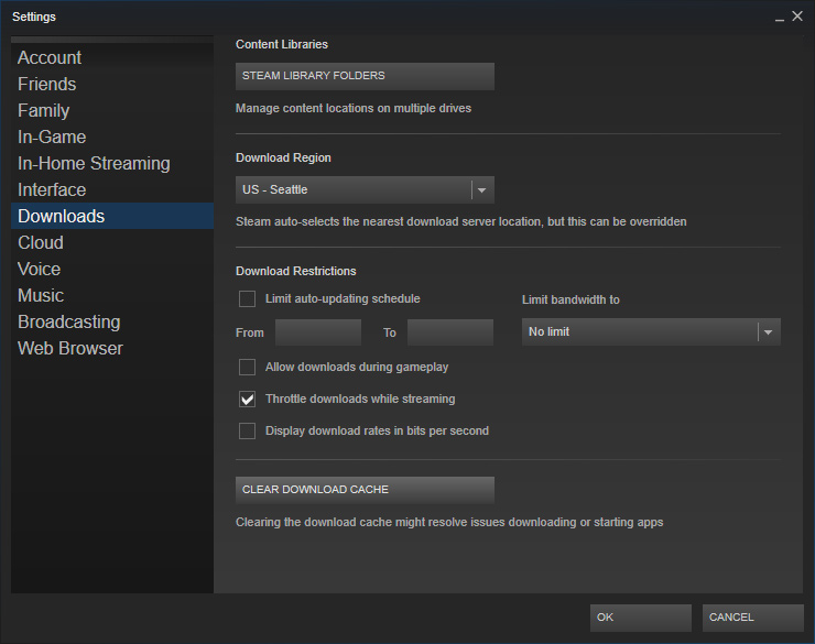 Tf2 validating steam cache files every time