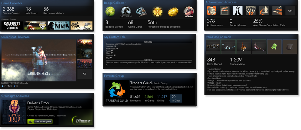 Steam Trading Cards Custom Backgrounds And Showcases Coming