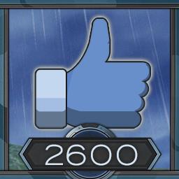 2600 likes