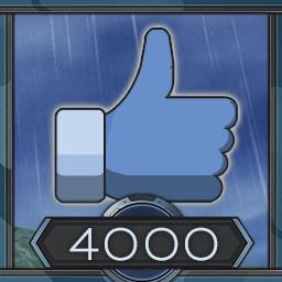 4000 likes