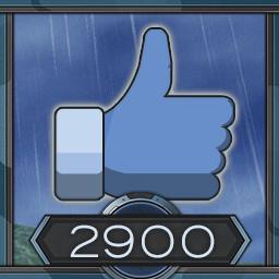 2900 likes