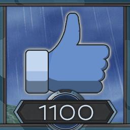 1100 likes
