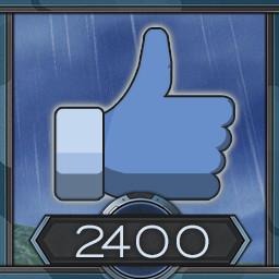 2400 likes