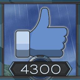 4300 likes