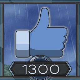 1300 likes