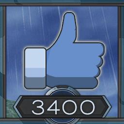 3400 likes