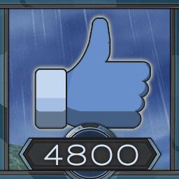 4800 likes