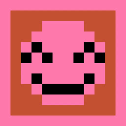 The Pink Grinning Face with Smiling Eyes