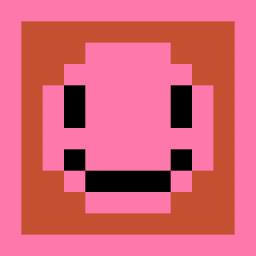 The Pink Slightly Smiling Face
