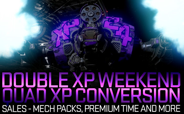 MechWarrior Online Double XP event and More