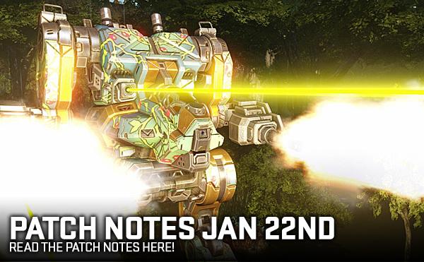 MechWarrior Online Patch Notes - 1.4.193.0 - 22-JAN-2019