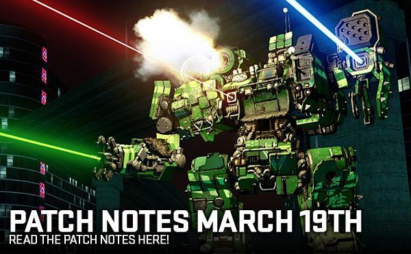 MechWarrior Online Patch Notes - 1.4.198.0 - 19-MAR-2019